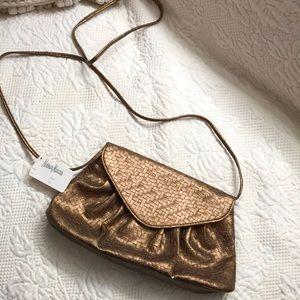NWT Gold Neiman Marcus purse